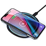 Fast Wireless Charger 15W Kabellos Ladegerät Ladepad Schnellladestation für Samsung Galaxy S20+ /S20 Ultra /S9 /S8 /S8 Plus /S7 iPhone 12 SE 11 XR 8 Huawei Mate 20pro P30pro AirPods pro
