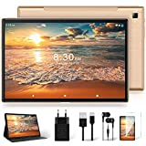 Tablet 10 Zoll mit 5G WiFi + Dual 4G LTE, Android 10 Original YESTEL T5 Ultraschnelles Tablets, 1920 * 1200 IPS   Face ID   Octa-Core-Prozessor   OTG   Bluetooth   64 GB, 128 GB Erweiterung, Roségold